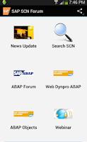 Screenshot of SAP SCN