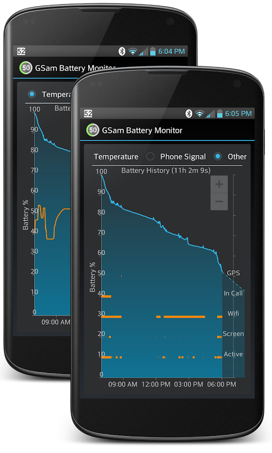 GSam Battery Monitor Pro - screenshot