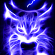 Blue Glowing Hellfire Kitty