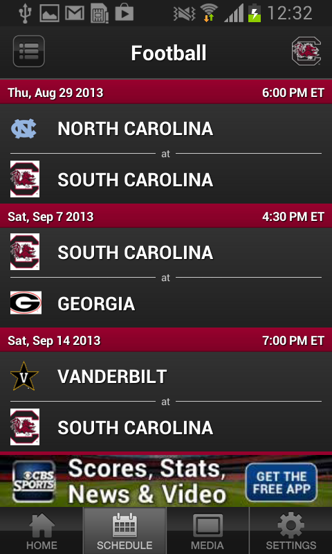 South Carolina Gamecocks Sport - screenshot
