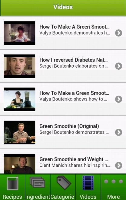 Green Smoothies - screenshot