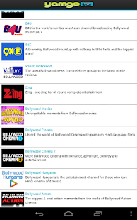 Yamgo Free Mobile TV- screenshot thumbnail
