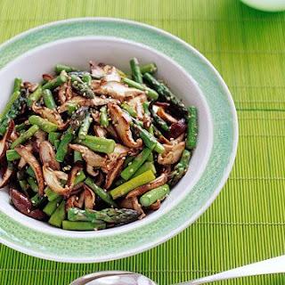 Asparagus and Shiitake Stir-Fry.