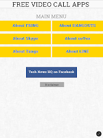 Screenshot of Video Call Apps Information
