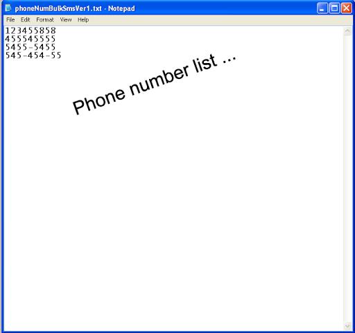 Send Bulk SMS using Text files