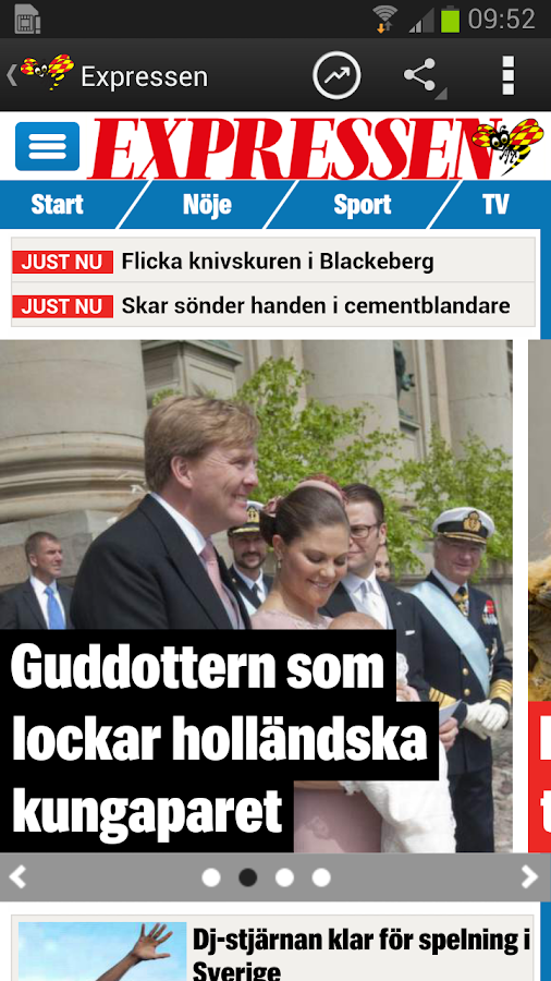 Expressen - screenshot