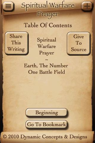 Spiritual Warfare Prayer - screenshot