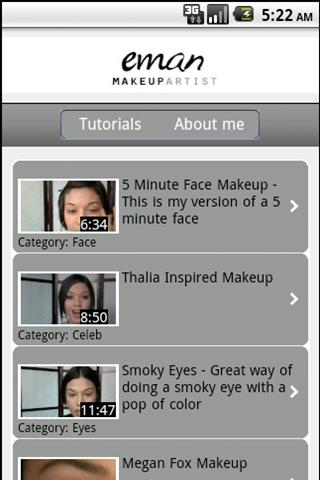 Eman's Makeup Tutorials - screenshot