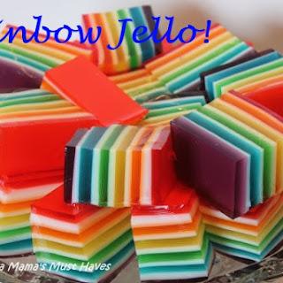 Rainbow Jello Recipe & Instructions
