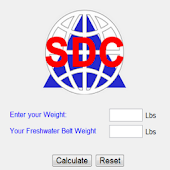 Scuba Weight Belt Calculator