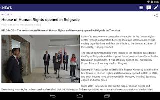 Screenshot of B92 English