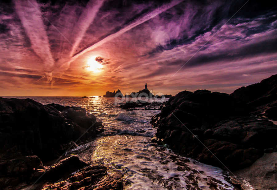 the  magic of Corbiere by Gary Power - Landscapes Sunsets & Sunrises ( landscape, beach )