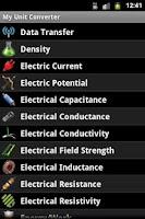 Screenshot of My Unit Converter