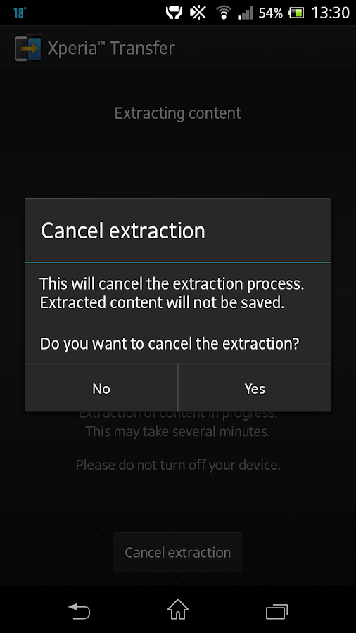 Xperia™ Transfer - screenshot