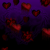 Goth Hearts Live Wallpaper