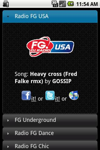Radio FG USA Application - screenshot