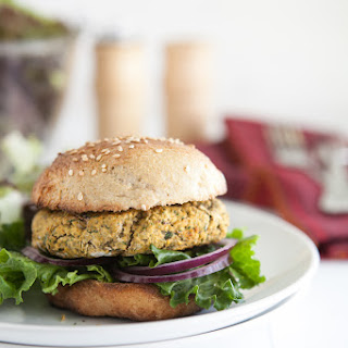 Chickpea and Spinach Burgers.