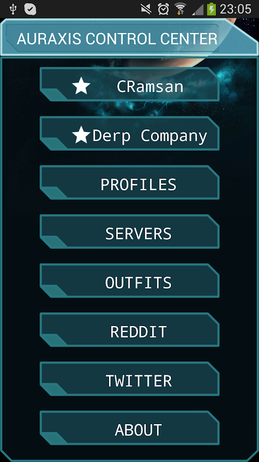 Auraxis Control Center- screenshot
