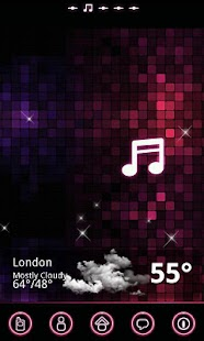 pinkmusic Theme GO Launcher EX - screenshot thumbnail