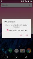 Screenshot of Lady Pill Reminder