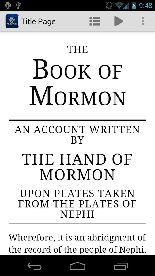 The Book of Mormon - screenshot