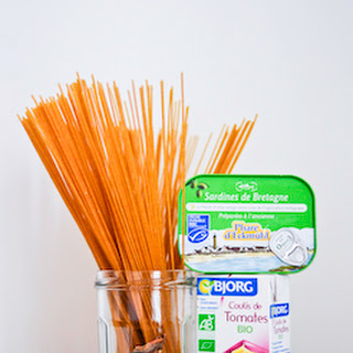 Spaghetti with Crushed Sardine and Tomato Sauce Recipe