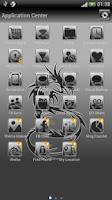 Screenshot of Tribal Dragon theme GO SMS Pro