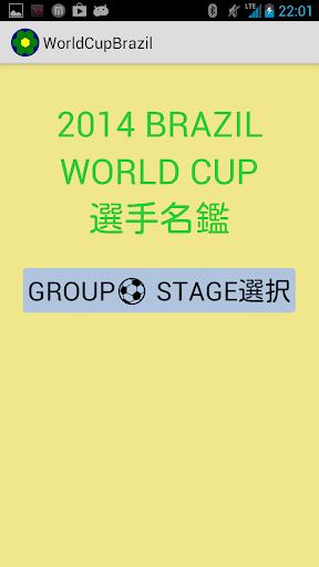 ブラジルワールドカップ選手名鑑