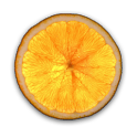 Bright Orange Clock icon