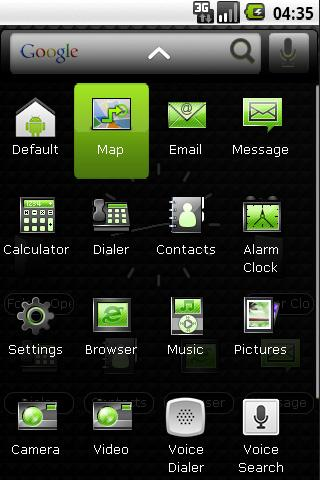 Panda Home Dark & Green Theme - screenshot