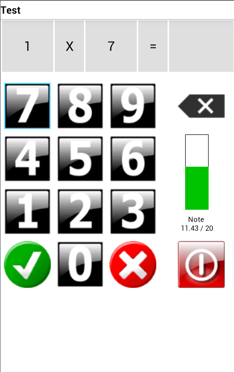 Tables de Multiplication- screenshot