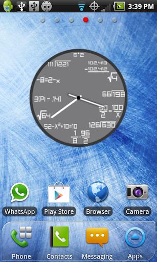 Math Clock Widget