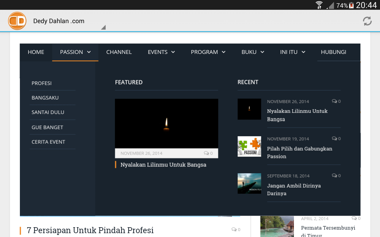 Dedy Dahlan .com- screenshot