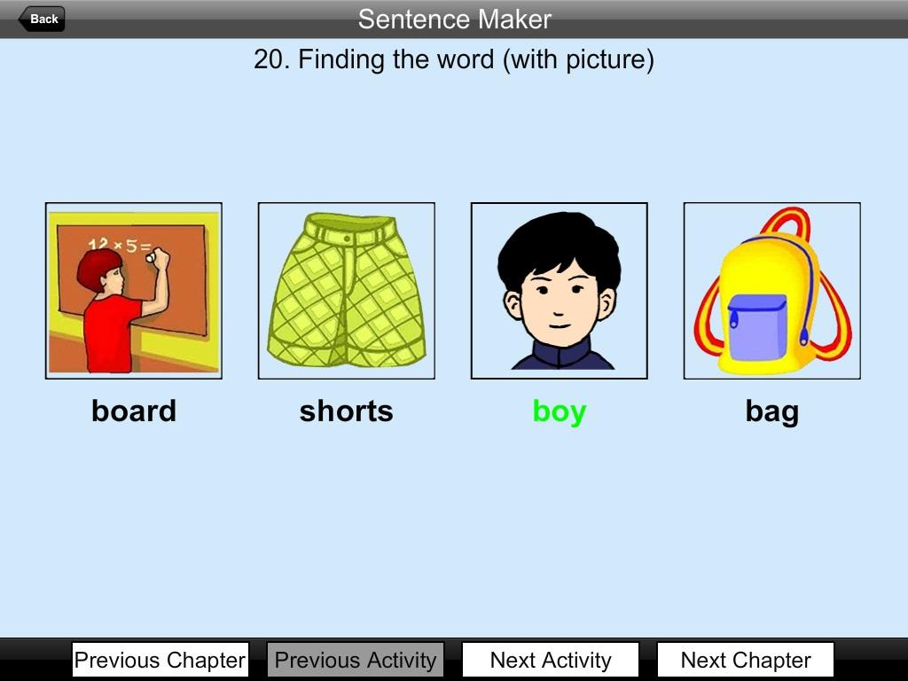 Sentence making website