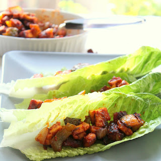 Chili Paneer Lettuce Wraps.