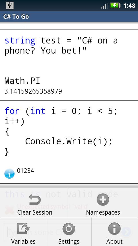 C# To Go- screenshot