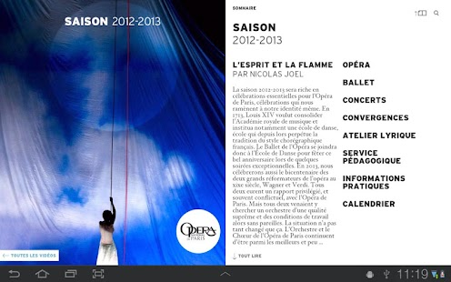 Opéra de Paris, Saison 12/13 - screenshot thumbnail