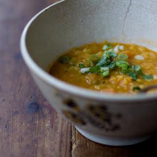 Coconut Red Lentil Soup.