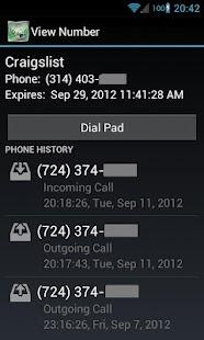 Disposable Numbers- screenshot thumbnail