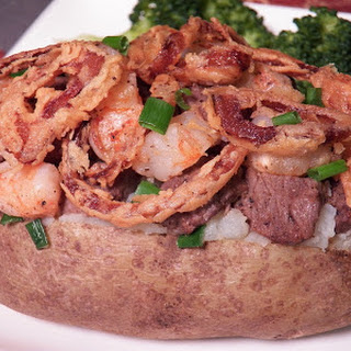 Surf and Turf Stuffed Potatoes.