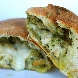Chicken Artichoke Pesto Calzones.