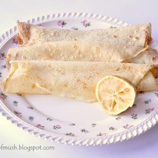 English Pancakes with Lemon & Sugar