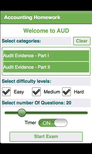 College Auditing Homework