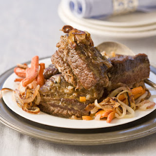 Pot Roast with Caramelized Onions and Roasted Carrots