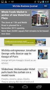 The Wichita Business Journal- screenshot thumbnail