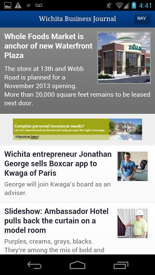 The Wichita Business Journal- screenshot