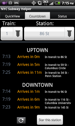 NYC Subway Time Schedule