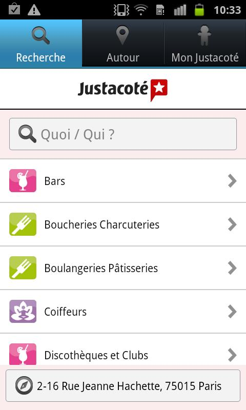 Justacoté - screenshot