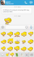Screenshot of GO SMS MANGO ANIMATED STICKER