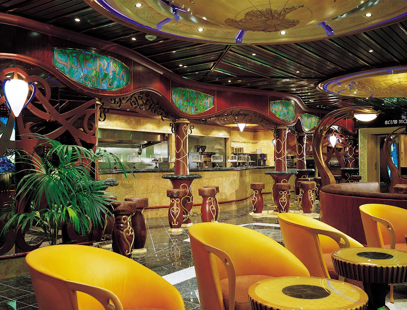 Guests on Carnival Sunrise can start the day sipping fine coffee and savoring sweets in the aptly named Vienna Cafe.